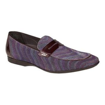 New Mezlan Men's Terzo Grape Velveteen Loafers shoes