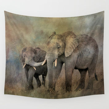 Mother And Child Wall Tapestry by Theresa Campbell D'August Art