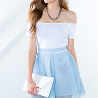 Blue Skies Mini Skirt