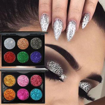 2017 Eye Shadows With Sparkles Metallic Diamond Make Up Eye Shadow Plate Maquiagem