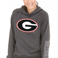 NCAA- Georgia Bulldogs Buttersoft - Unisex Tri-Blend Hoodie