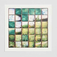 Summer Squares Art Print- Green One