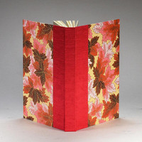 Journal Blank Paper Scarlet Leaves