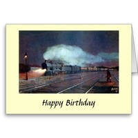 Birthday Card - Bordeaux-Paris Night Express