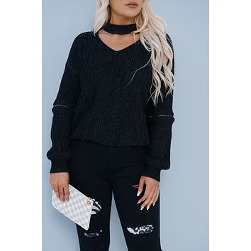Old News Sweater (Black/Charcoal)