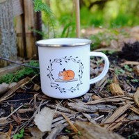 Sleepy Fox Mug / woodland friends camp mug