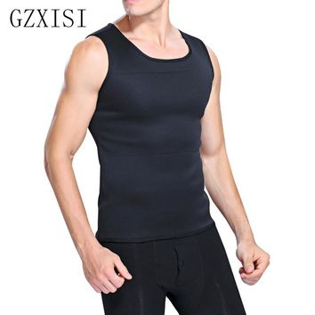 GZXISI Hot Slimming Male Vest Neoprene Body Shaper Men Black Vests Waist Belt Waist Trainer Tights Corsets Hot Shapers Shapewear