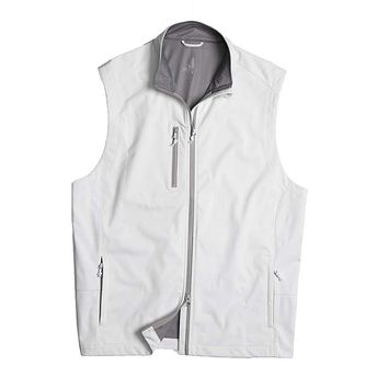 Firestone 2-Way Zip Front Wind Vest in White by Johnnie-O