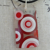 Three Olives Bubble Glass Pendant Necklace by BottleCrafters