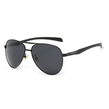 Men's Aviator Polarized Driving Sun Glasses Mens Riding Sunglasses Classic Big Frame Sunglasses