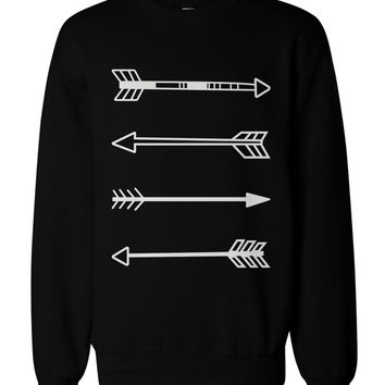 Tribal Arrows Graphic Sweatshirts - Unisex Black Sweatshirt