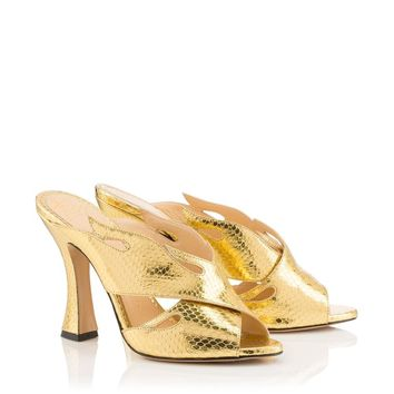 Hot Ups! in Gold - Sandals | Charlotte Olympia