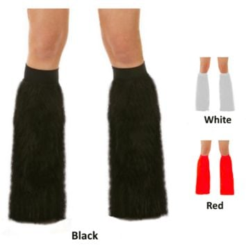 Economy Fluffy Furry Leg Warmers