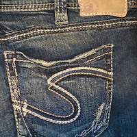 Silver Aiko Mid Rise Bootcut Jeans