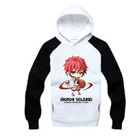 AnimeTown The Basketball which Kuroko Plays Long Sleeves Hat Hoodie (L, Black and White)