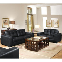 Whitney Leather Modern Sofa Set at Brookstone—Buy Now!