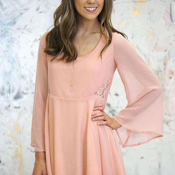 Blushing Lace Tunic Dress