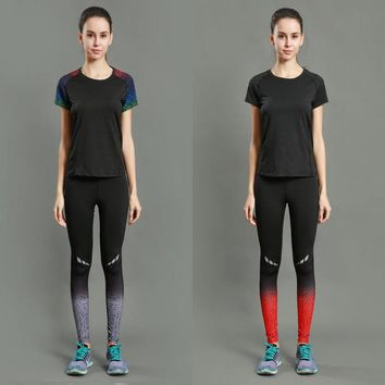 Couples fitted Running Tights Women Sports Leggings Sportswear Long Trousers Yoga Pants Winter Fitness Compression Sexy Gym Slim