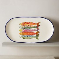 Sardina Small Platter by Anthropologie in Assorted Size: Small Platter Kitchen