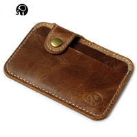 2017 Genuine Leather Cardholder Passport Covers Women Purse  Men's Business Credit Card Holder Cover For Auto Documents Casual