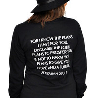 Hope and Future Jeremiah 29:11 Unisex Longsleeve