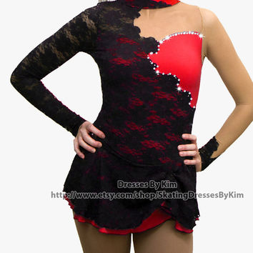 "Custom Figure Skating Baton Twirling Dance Dress - ""Latin"""