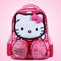 New nylon schoolbags cartoon backpack Hello Kitty girl lovely schoolbags and Mickey children Zipper school bags