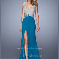 La Femme Sexy Cut Out Prom Dress 21281