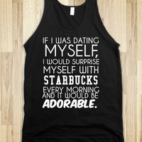 Dating myself Adorable tank top tee t shirt tshirt