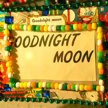 Goodnight Moon Picture Frame, childrens decor
