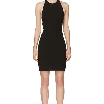 Versus Black Cut-out Back Anthony Vaccarello Edition Dress
