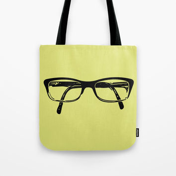 Glasses Tote Bag by minuskel-h