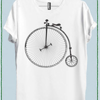 Women Retro Bike Bicycle Tee Crew Neck Top T shirt code20606