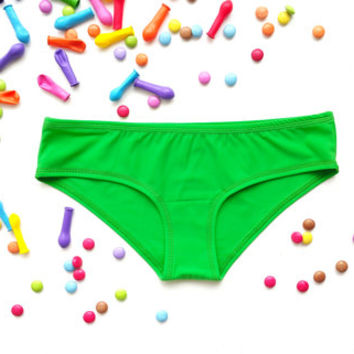 Green panty french knickers hipster panties boyshort undies