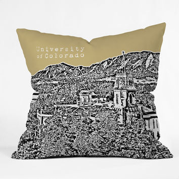 Bird Ave University Of Colorado Yellow Throw Pillow