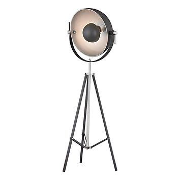 Backstage Adjustable Floor Lamp in Matte Black And Polished Nickel