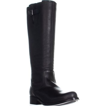 Steve Madden Trico Zip Up Knee High Boots, Black, 8.5 US