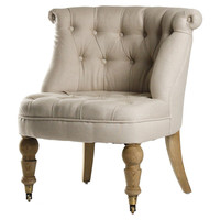 Cassia Slipper Chair, Oatmeal