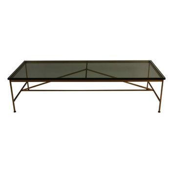 Pre-owned Paul McCobb Brass & Glass Coffee Table