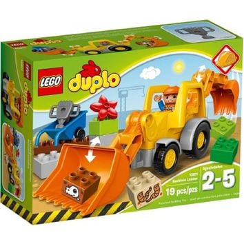 LEGO DUPLO Town Backhoe Loader Building Set,