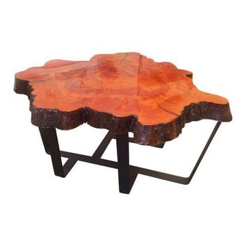 Vintage Cypress Slab Coffee Table