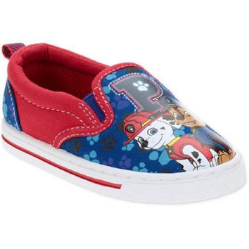Paw Patrol Toddler Boys' Slip On Casual Canvas Shoes, 12, Red/Blue