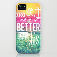 Life Can't Get Any Better Than This iPhone & iPod Case by Pink Berry Pattern