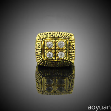 aoyuan Championship rings,1979 Pittsburgh Steelers Super Bowl Championship Rings, sports fans r