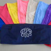 Personalized Bandeau Swimsuit  Monogrammed by MonogramsExpress
