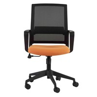 Livia Office Chair in Orange with Black Base