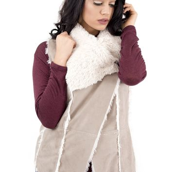 Women's cupcakes and cashmere Faux Suede Vest
