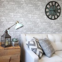 Wallpops Gray Brick Peel and Stick Wallpaper