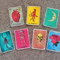 La Loteria Handmade Canvas Patches