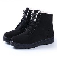 Snow boots 2017 fashion warm ankle boots women winter shoes plus size 35-42
